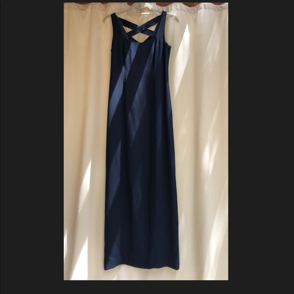 Laundry By Shelli Segal Dresses & Skirts - Navy blue gown with slit in back